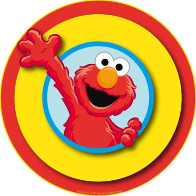 Edible Images Round Elmo Image